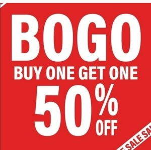 BOGO LUXURY SALE: BUY 1, 2ND HALF PRICE!